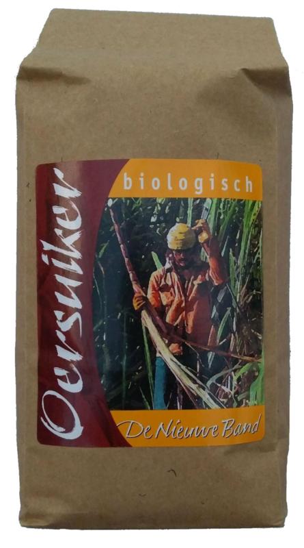 Biologische oersuiker (sucanat) 500 gram (De Nieuwe Band)