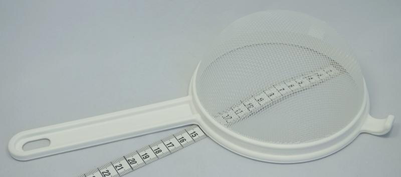 Kunststof bolzeef, diameter 14 cm (waterkefir)