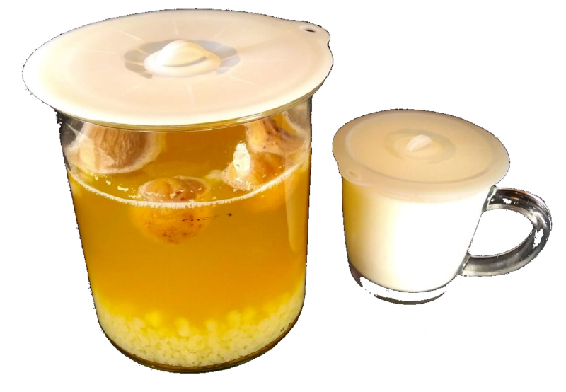 Siliconen deksel, in 2 afmetingen (voor fermentatiepot)