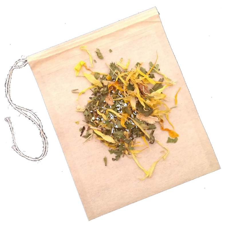 100 Papieren thee- en kruidenzakjes voor waterkefirbereiding (middel of klein)