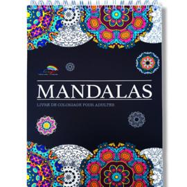 Kleurboek voor volwassenen 30 afb. Mandala's -White