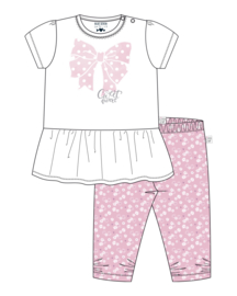 NB Baby girls knitted 2 pcs set-Blue Seven-White