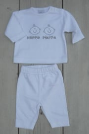 Baby Unisex 2-dlg. Happy Twins - LPC- White