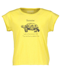 Blue Seven-Girls knitted T-shirt -Straw orig-Yellow