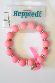 Girls Armband Hart- Heppiedi- Pink