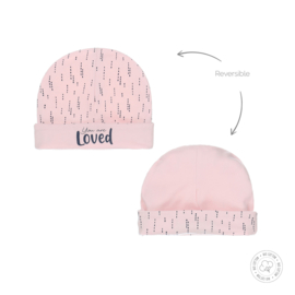 Dirkje-Baby Girls hat reversible Bio Cotton-Light pink