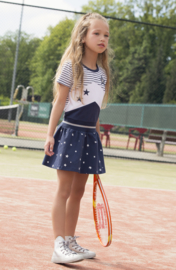 Girls Dress- DJ Dutch Jeans-Navy + white + stripe