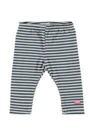 Baby Girls legging y/d stripe-Bampidano- Blue stripe