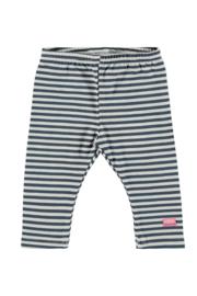Bampidano-Baby Girls legging y/d stripe- Blue stripe