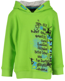Kids Boys knitted sweatshirt, hood-Blue Seven-Lt Green orig
