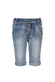 Kids Boys denim pull on short-Bampidano-mid denim