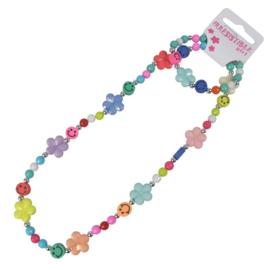 Kinder Collier en armband Smile Bloemen-Klijn- diverse kleuren