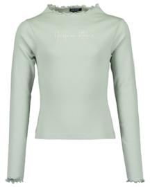 Blue Seven-Girls knitted t-shirt-Glacier orig-Green