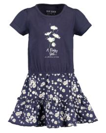 Blue Seven-Kids Girls knitted Dress-Night Blue orig