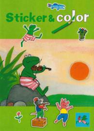 C.W.-Kinderboek Kikker Sticker & Color kleurboek A4-Multi Color