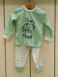 Unisex Baby Pyjama I Love You- LPC- Green