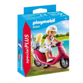 Playmobil Special Plus-CW.-Zomers meisje met scooter- 9084-Multi Color