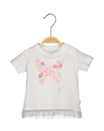 Baby Girls T-Shirt-Blue Seven-White