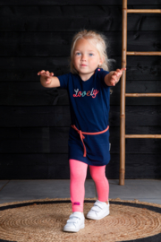 B.Nosy-Baby girls dress with embroidey on chest-space blue