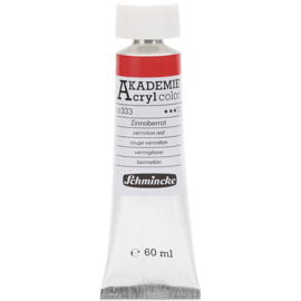Acryl color-vermilion red (333)-transparent, extr. fade resistant, 60ml-Schmincke AKADEMIE