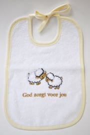 Unisex Slab schaapjes God zorgt voor jou-CBC-White