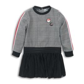 Koko Noko-Girls Dress- Black check + black