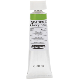 Acryl color-May green (557), semie transparent, good fade resitant, 60 ml-Schmincke AKADEMIE