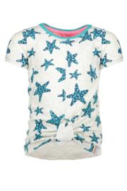 Girls ss star shirt -B.Nosy-Ecru melee