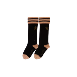 Girls Starry socks - Lovestation22-Black Gold Kaki