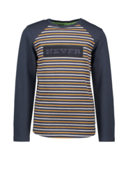 Boys fake raglan shirt with YDS body-B.Nosy-Oak stripe