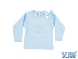 VIB-Boys T-Shirt Als papa en mama Nee zeggen... -Light Blue-white