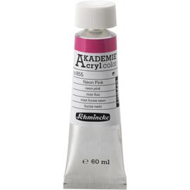 Acryl color-neon pink (855), 60ml, opaque, extr. fade resistant.-Schmincke AKADEMIE
