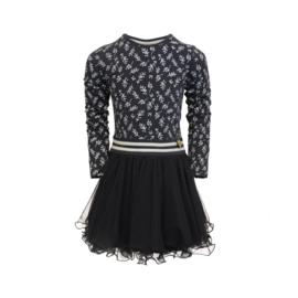 LoFff-Girls Dress Dance with me- Dark blue leaf