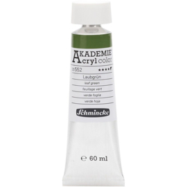Acryl color-leaf green (552), semi-opaque, good fade resistant, 60ml-Schmincke AKADEMIE