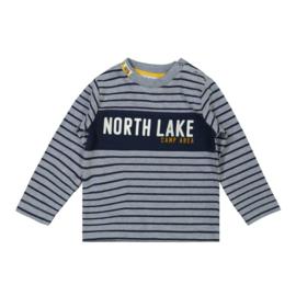 Dirkje-Boys Baby T-Shirt ls-Jeans blue + navy
