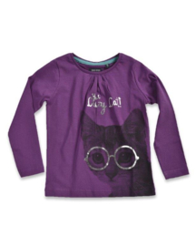 Kids Girls T-Shirt- Blue Seven- Purple