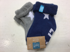 Lief! Lifestyle Socks-Blue/White-6-12 m/ 68