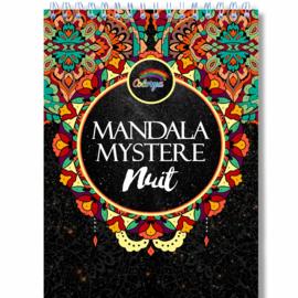 Kleurboek voor volwassenen 30 afb. Mandala Mystere-Black