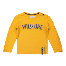 Dirkje-Girls Baby T-shirt ls-Warm yellow