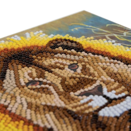 Craft Buddy- Card Kits-Diamond Painting Resting Lion- Multi Color