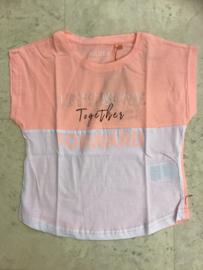 Blue Seven-Girls knitted T-shirt -Melon-Peach