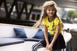 Girls shirt with direct zebra embroidery-B.Nosy-Lemon