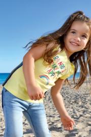 Kids Girls knitted T-Shirt-ENJOY SUMMER-Blue Seven-CORN ORIG