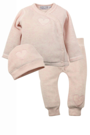 Dirkje-Baby Girls pre 2-pce Babysuit + hat- Light pink