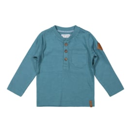 Dirkje-Boys Baby T-shirt ls-Dusty blue