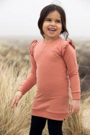 Koko Noko-Girls Nena Dress Ls Bio Cotton-Dusty Pink
