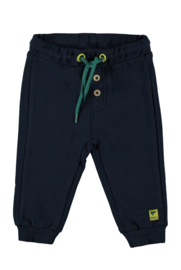 Baby Boys sweat trousers + rib cuffs + waist string -Bampidano-Navy