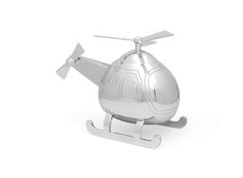 Zilverstad-Unisex Spaarpot helikopter-Silver