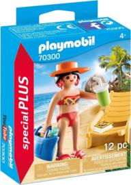 Playmobil Special Plus-CW.-vakantieganger met strandstoel- 70300-Multi Color