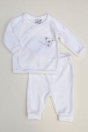 Unisex 2-pce Babysuit Mouse-LPC-White